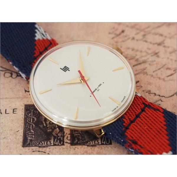 リップ LIP 腕時計 670005 パノラミック テキスタイルベルト クォーツ コミューン ドゥ パリ コラボモデル|ippin|03