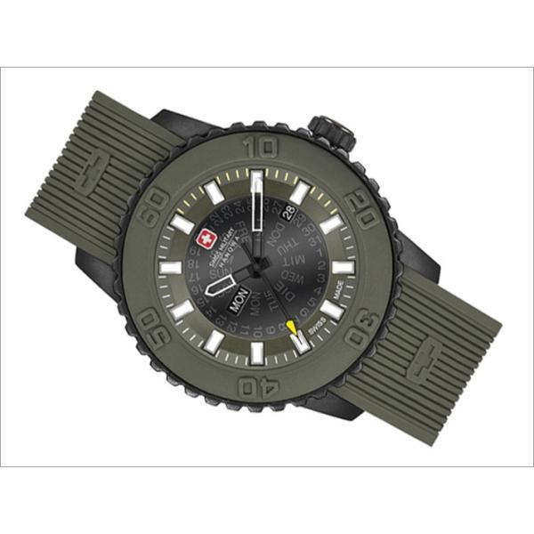 スイスミリタリー SWISS MILITARY 腕時計 TWILIGHT ML418 3針 カーキ 47mm メンズ シリコンベルト|ippin