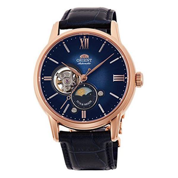オリエント ORIENT 腕時計 RN-AS0004L クラシック サンアンドムーン セミスケルトン レザーベルト メンズ|ippin