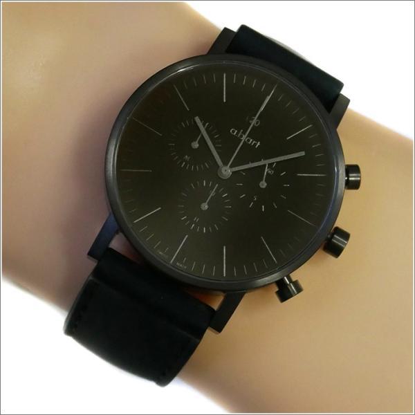 エービーアート a.b.art 腕時計 SERIES OC OC-202 ブラック文字盤 41mm ブラック ラバーベルト クォーツ|ippin