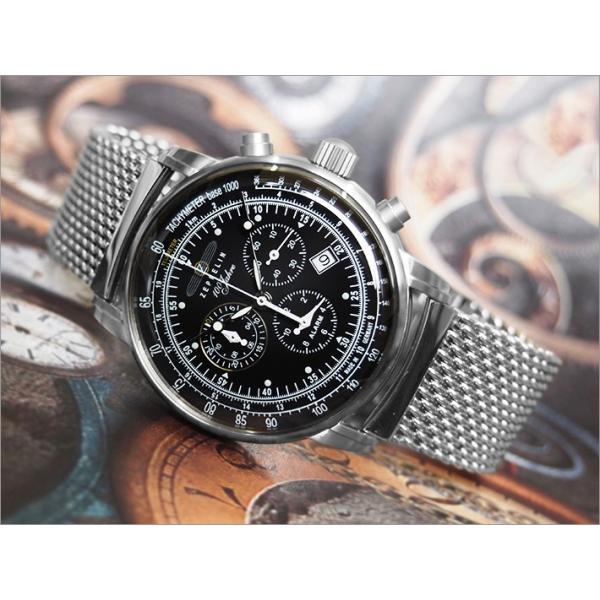 ツェッペリン ZEPPELIN 腕時計 7680M-2 100周年記念 クォーツ 42mm メタルベルト|ippin