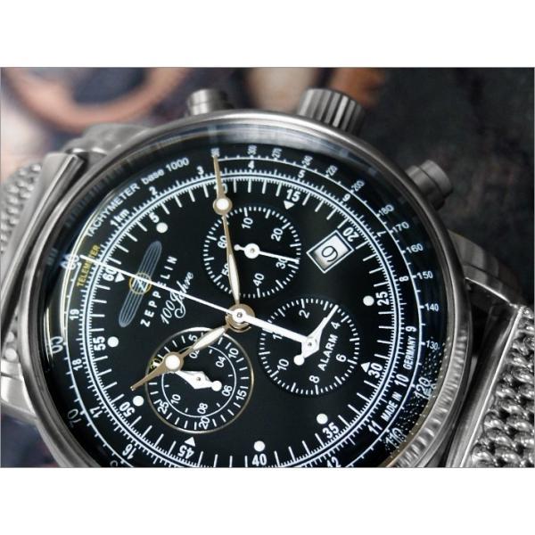 ツェッペリン ZEPPELIN 腕時計 7680M-2 100周年記念 クォーツ 42mm メタルベルト|ippin|02