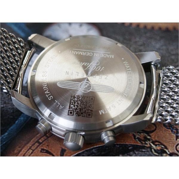 ツェッペリン ZEPPELIN 腕時計 7680M-2 100周年記念 クォーツ 42mm メタルベルト|ippin|03