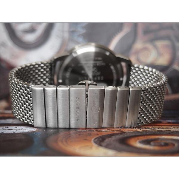 ツェッペリン ZEPPELIN 腕時計 7680M-2 100周年記念 クォーツ 42mm メタルベルト|ippin|04
