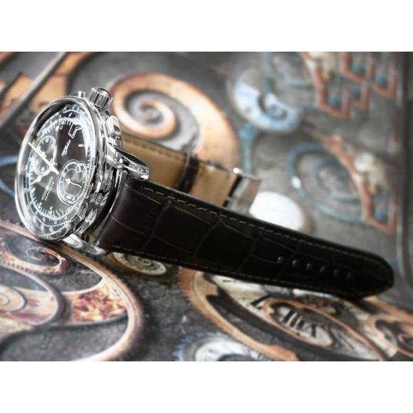ツェッペリン ZEPPELIN 腕時計 8670-2 100周年記念 クォーツ 42mm レザーベルト|ippin|04