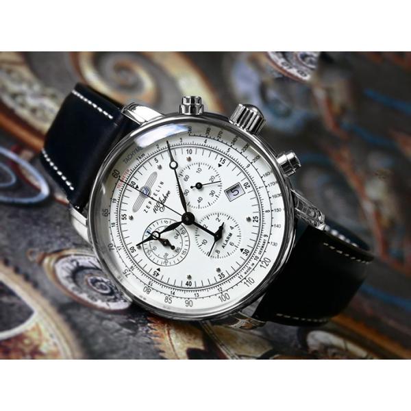 ツェッペリン ZEPPELIN 腕時計 8680-3 100周年記念 クォーツ 42mm レザーベルト ippin ... ff1933d00f