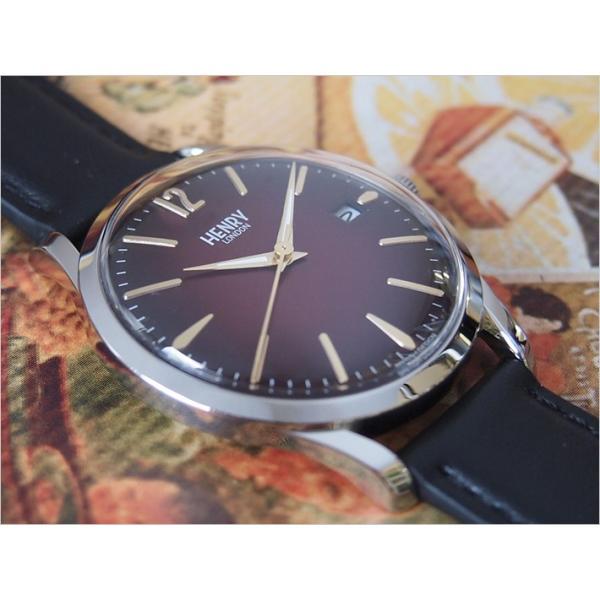 ヘンリーロンドン HENRY LONDON 腕時計 HL39-S-0095 チャンセリー メンズ レザーベルト|ippin|02