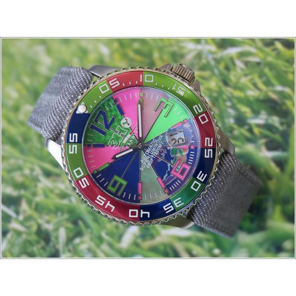 トレアッカ イタリア 3H ITALIA 腕時計 44M1.FIORE メンズ ラバーベルト 替ベルト付き|ippin