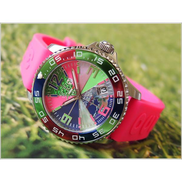 トレアッカ イタリア 3H ITALIA 腕時計 44M1.FIORE メンズ ラバーベルト 替ベルト付き|ippin|02