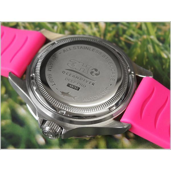 トレアッカ イタリア 3H ITALIA 腕時計 44M1.FIORE メンズ ラバーベルト 替ベルト付き|ippin|04