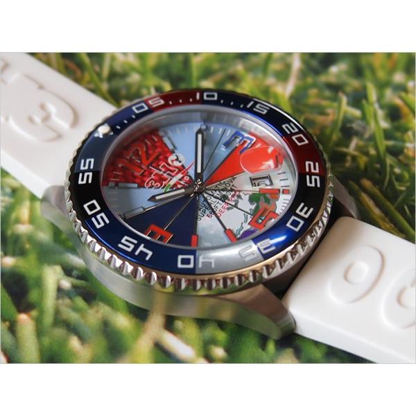 トレアッカ イタリア 3H ITALIA 腕時計 44M1.INDACO メンズ ラバーベルト 替ベルト付き|ippin|02