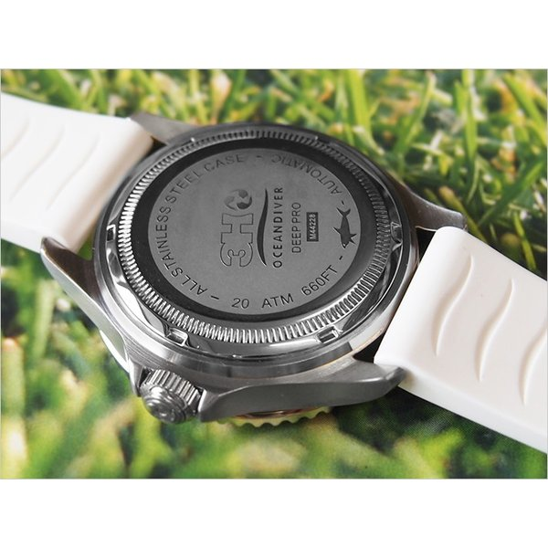 トレアッカ イタリア 3H ITALIA 腕時計 44M1.INDACO メンズ ラバーベルト 替ベルト付き|ippin|03