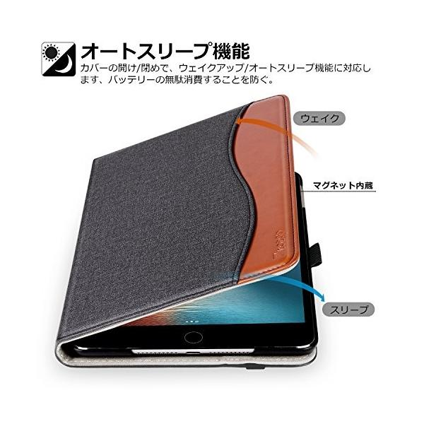Ztotop iPad Mini5 2019 ケース 高級PUレザー製 オートスリープ機能 ペンシル収納 カードポケット付き 手帳型 全面保護 201|ippinhonten|04