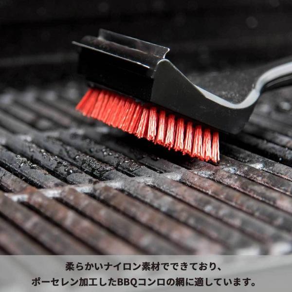 バーベキュー 掃除 ブラシ 後片付け お手入れ 汚れ 焦げ取り クリーニング 網 鉄板 コンロ グリル BBQ アウトドア ナイロン 焼き肉|irc-cb|04