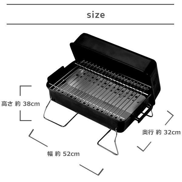 バーベキュー コンロ アメリカ 炭 折りたたみ 一人 キャンプ  軽量 コンパクト グリル BBQ 小型 卓上型 ハンディ アウトドア チャーブロイル 庭 ベランダ|irc-cb|07