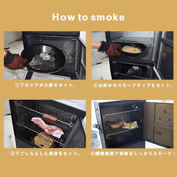 バーベキュー コンロ アメリカ  スモーカー スモーク 炭 グリル BBQ 燻製器 バーティカルスモーカー アウトドア チャーブロイル|irc-cb|05