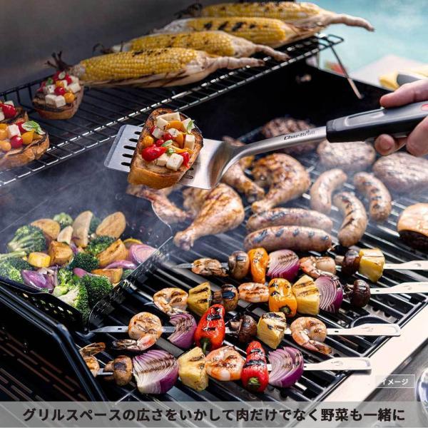 バーベキュー デジタル温度計 折りたたみ グリル 肉 調理器具 アウトドア キャンプ グランピング|irc-cb|05