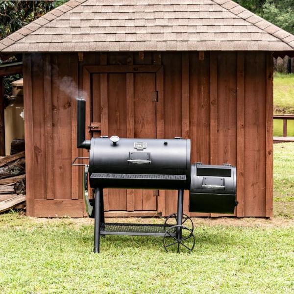 バーベキューコンロ アメリカ 炭 スモーカー 燻製 グリル スモーク BBQ 蓋付き 大型 ハイランドオフセットスモーカー アウトドア オクラホマジョーズ|irc-cb|07