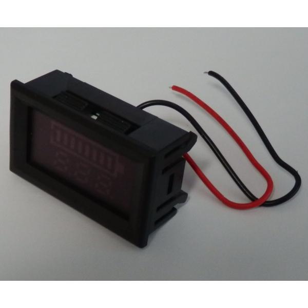 12Vバッテリー用電圧計 LC【カラーバー&数値/簡単2線式】|iredy|03