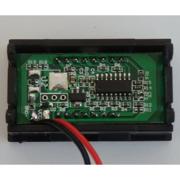 12Vバッテリー用電圧計 LC【カラーバー&数値/簡単2線式】|iredy|04