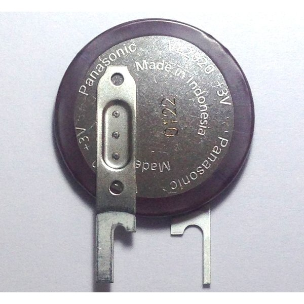 Panasonic VL-2020 縦型端子付き(VC) 【VL系コイン形リチウム二次電池】