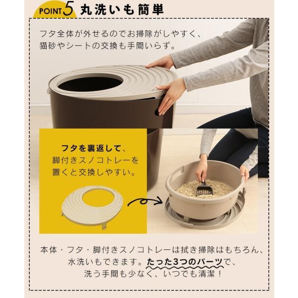 上からシステム猫トイレスターターセット アイリスオーヤマ システムトイレ用 1週間におわない 消臭シート 脱臭シート 猫トイレ ネコトイレ|irisplaza|18