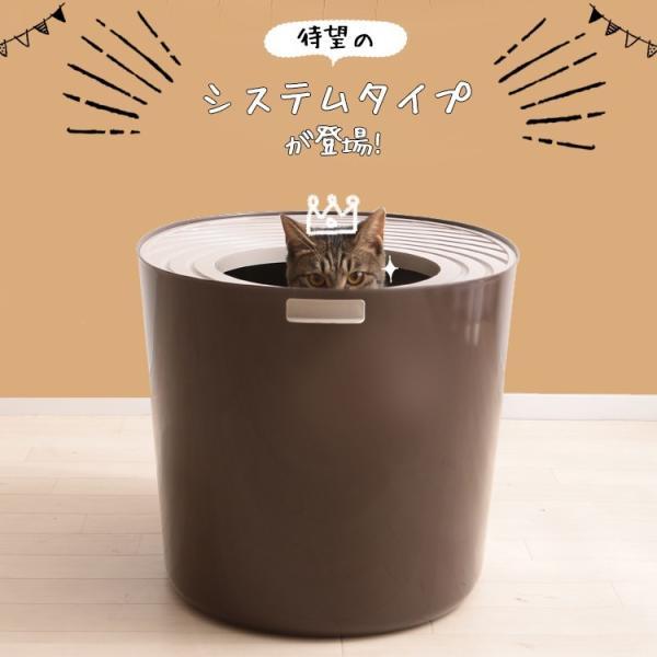 上からシステム猫トイレスターターセット アイリスオーヤマ システムトイレ用 1週間におわない 消臭シート 脱臭シート 猫トイレ ネコトイレ|irisplaza|04