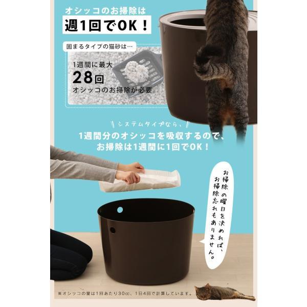上からシステム猫トイレスターターセット アイリスオーヤマ システムトイレ用 1週間におわない 消臭シート 脱臭シート 猫トイレ ネコトイレ|irisplaza|10