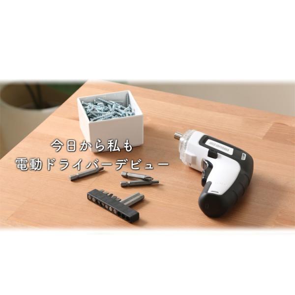電動ドライバー 電動ドリル 充電式 アイリスオーヤマ コードレス 小型 ミニ LEDライト付き 電動工具 RD110|irisplaza|03