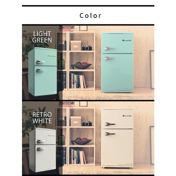 冷蔵庫 冷凍庫 2ドア 85L 家庭用 一人暮らし おしゃれ Grand-Line 2ドアレトロ冷凍/冷蔵庫 85L  (D) 小型 1人暮らし デザイン コンパクト|irisplaza|08