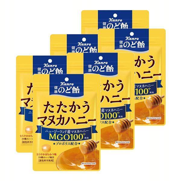 (6袋)カンロ 健康のど飴たたかうマヌカハニー カンロ (D)【メール便】