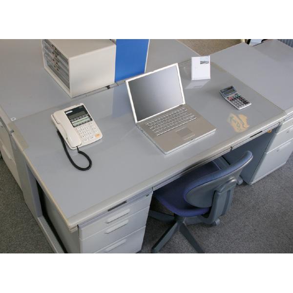 デスクマット 透明 おしゃれ E型 DMT-6045E (60cm×45cm/アイリスオーヤマ) 学習机|irisplaza|03