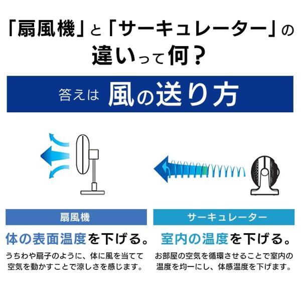サーキュレーター アイリスオーヤマ 静音 コンパクト おしゃれ 8畳  H型 扇風機 卓上 PCF-HD15N-W PCF-HD15N-B (あすつく)|irisplaza|11