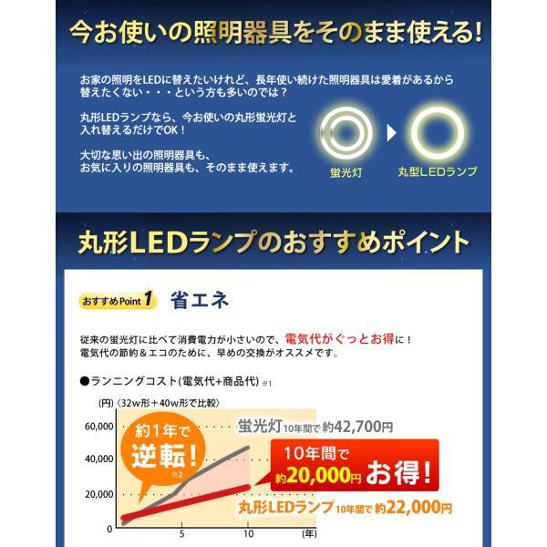 LED 蛍光灯 丸形 アイリスオーヤマ 丸形LEDランプ シーリング 用 32形 40形 昼光色 昼白色 電球色 LDCL3240SS/D N L/32-C|irisplaza|03