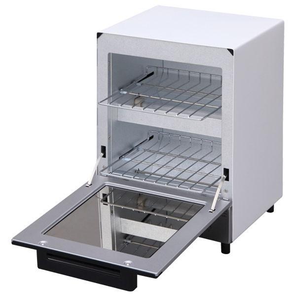 トースター アイリスオーヤマ オーブントースター 2枚 おしゃれ 縦型 コンパクト 2段構造 ミラーオーブントースター MOT-012|irisplaza|17