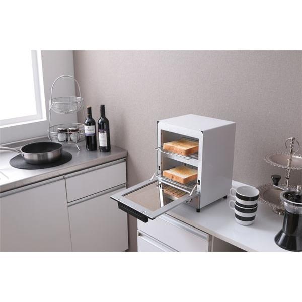 トースター アイリスオーヤマ オーブントースター 2枚 おしゃれ 縦型 コンパクト 2段構造 ミラーオーブントースター MOT-012|irisplaza|18