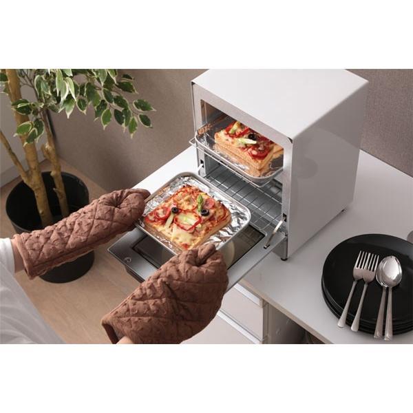 トースター アイリスオーヤマ オーブントースター 2枚 おしゃれ 縦型 コンパクト 2段構造 ミラーオーブントースター MOT-012|irisplaza|20