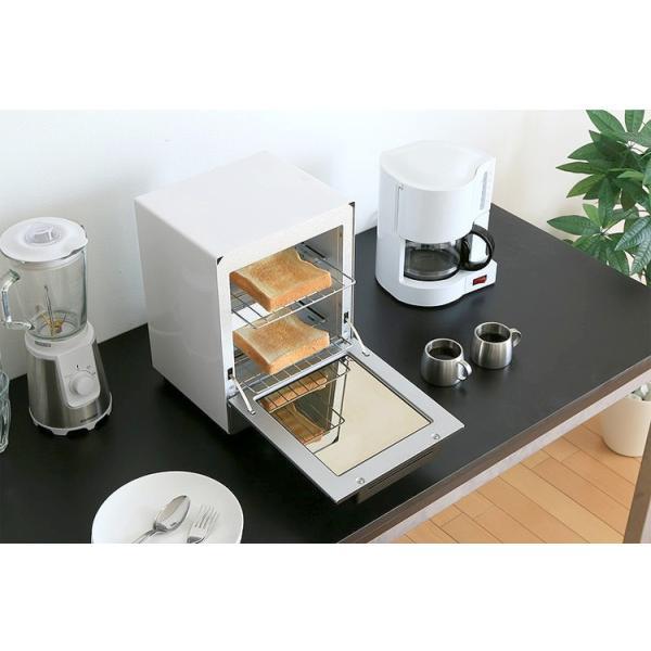 トースター アイリスオーヤマ オーブントースター 2枚 おしゃれ 縦型 コンパクト 2段構造 ミラーオーブントースター MOT-012|irisplaza|03
