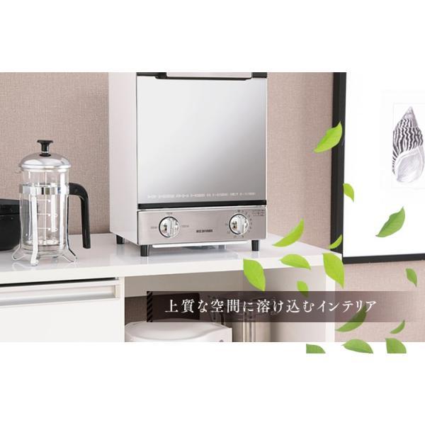 トースター アイリスオーヤマ オーブントースター 2枚 おしゃれ 縦型 コンパクト 2段構造 ミラーオーブントースター MOT-012|irisplaza|05