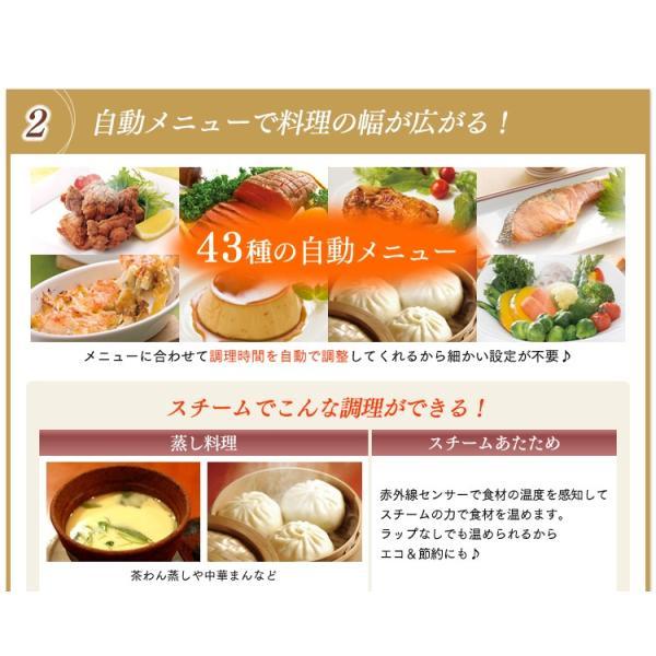 電子レンジ アイリスオーヤマ シンプル フラット スチームオーブンレンジ インバーター式  ヘルシー脂 油 グリル 1000W 250℃ MS-2402|irisplaza|05