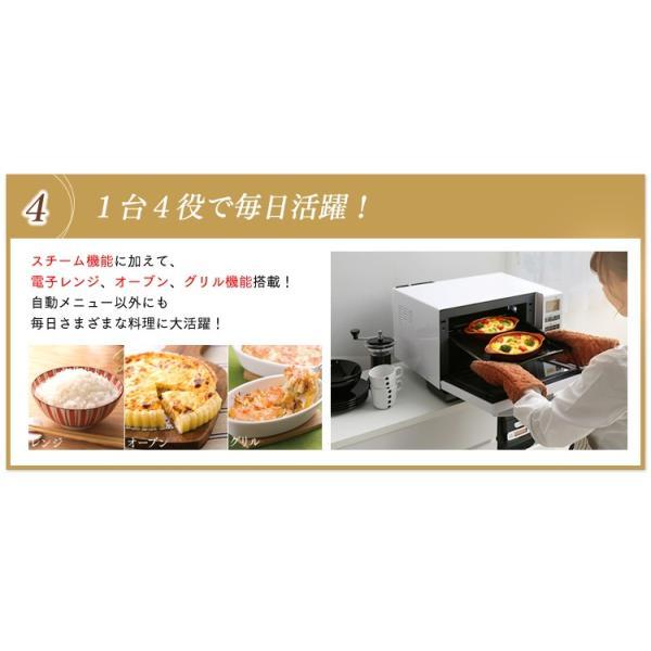電子レンジ アイリスオーヤマ シンプル フラット スチームオーブンレンジ インバーター式  ヘルシー脂 油 グリル 1000W 250℃ MS-2402|irisplaza|09