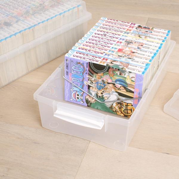 ラック 収納 本棚 書棚 オープンラック ディスプレイラック 文庫 コミック収納ケース クリアボックス アイリスオーヤマ|irisplaza|02