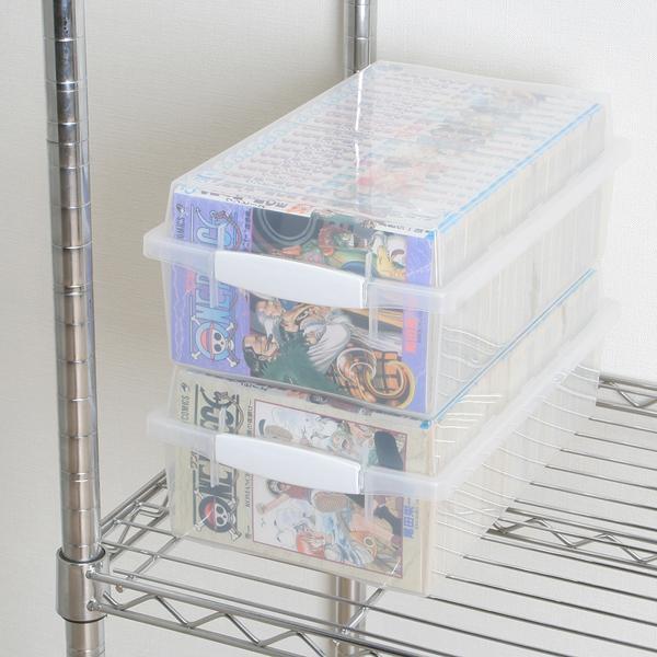 ラック 収納 本棚 書棚 オープンラック ディスプレイラック 文庫 コミック収納ケース クリアボックス アイリスオーヤマ|irisplaza|03