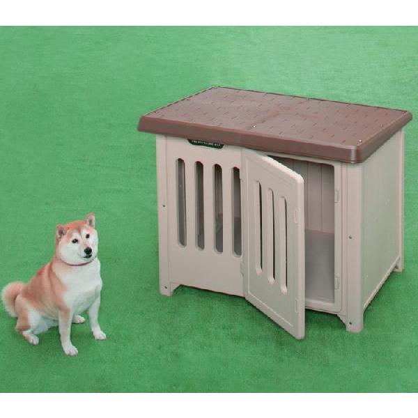 犬小屋 アイリスオーヤマ 屋外 室外 犬舎 中型犬 大型犬 おしゃれな犬小屋 アイリスオーヤマ プラ プラスチック製 (あすつく)|irisplaza|02