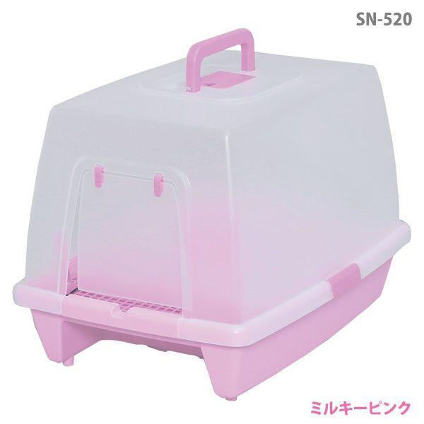 猫 トイレ アイリスオーヤマ 砂落としマット付脱臭ネコトイレ SN-520|irisplaza|02