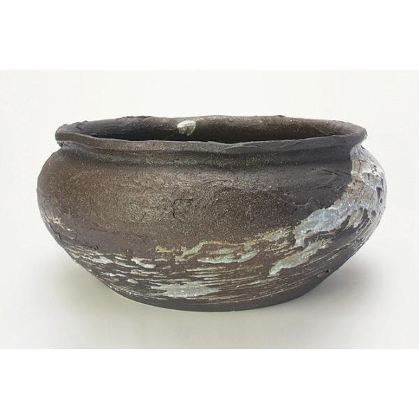 金魚鉢 おしゃれ 睡蓮鉢 陶器 メダカ鉢 水鉢 信楽焼 雲海 陶器 めだか鉢