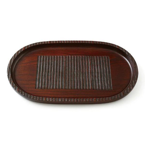 目引 30cm 小判盆 トレー トレイ 皿 盆 木製 和歌山 彩り屋