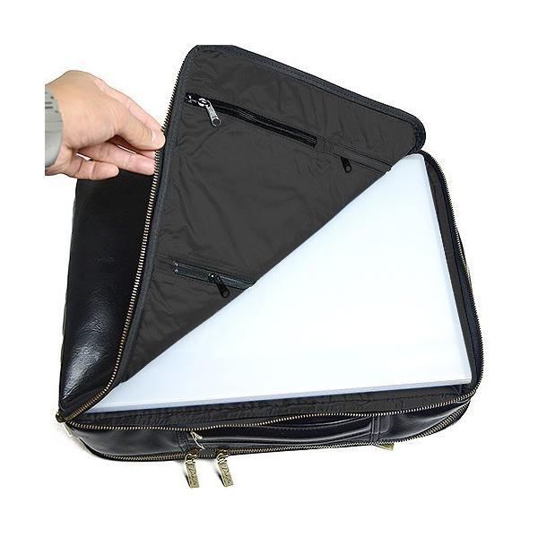 ダコタ Dakota ブラックレーベル カワシ リュック メンズ レディース デイパック ビジネスバッグ 本革 B4 大容量 1620162 ブランド|irohamise|13