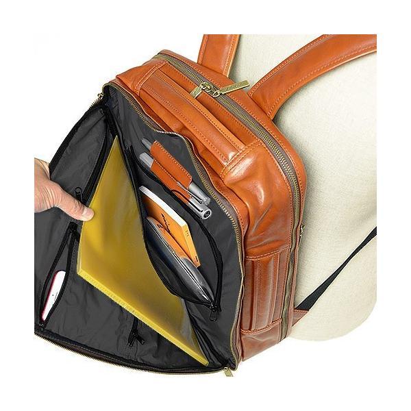 ダコタ Dakota ブラックレーベル カワシ リュック メンズ レディース デイパック ビジネスバッグ 本革 B4 大容量 1620162 ブランド|irohamise|06