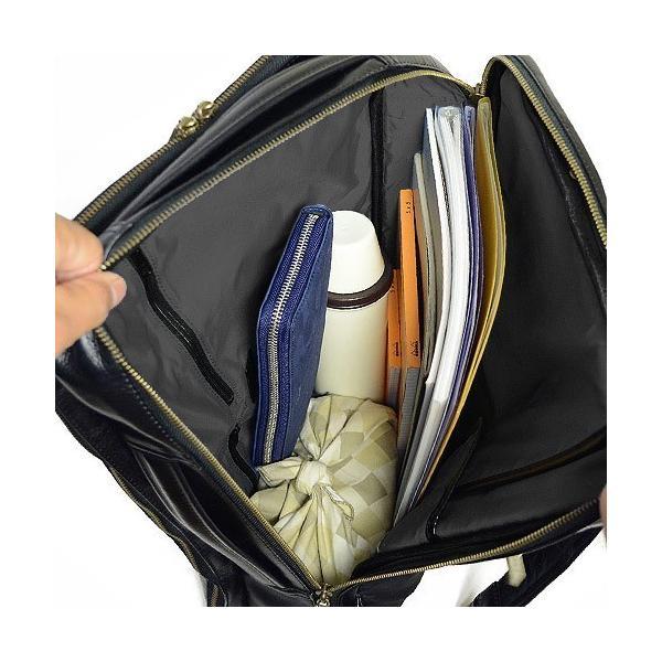 ダコタ Dakota ブラックレーベル カワシ リュック メンズ レディース デイパック ビジネスバッグ 本革 B4 大容量 1620162 ブランド|irohamise|07